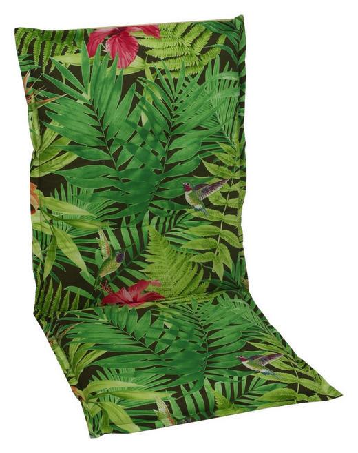SESSELAUFLAGE Floral - Grün, Design, Textil (50/110cm)