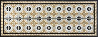 FUßMATTE 75/190 cm Graphik Beige - Beige, Basics, Kunststoff/Textil (75/190cm) - Esposa