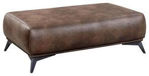 HOCKER in Textil Braun  - Schwarz/Braun, KONVENTIONELL, Kunststoff/Textil (132/43/78cm) - Novel