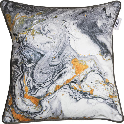 KISSENHÜLLE Creme, Grau, Orange 45/45 cm - Creme/Orange, Textil (45/45cm) - Schöner Wohnen