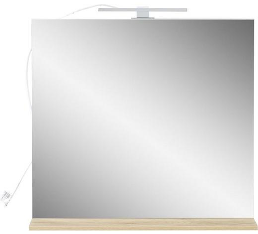 SPIEGEL 76/75/15 cm - Eichefarben, Design, Glas/Holzwerkstoff (76/75/15cm) - Xora