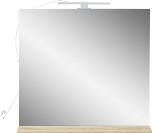 SPIEGEL - Eichefarben, Design, Glas (76/75/15cm) - Xora