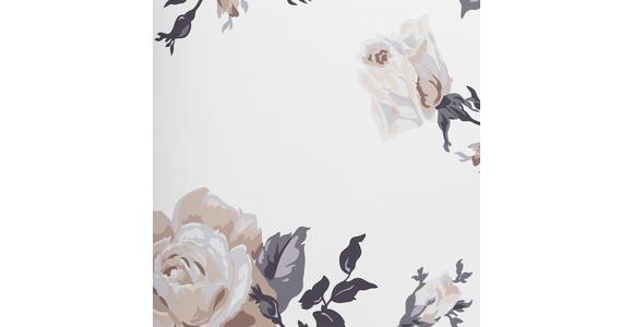 Bettwäsche Valia - Weiß/Grau, ROMANTIK / LANDHAUS, Textil - James Wood