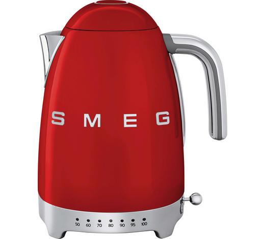 Wasserkocher Chromfarben Rot Design Kunststoff Metall 22 3