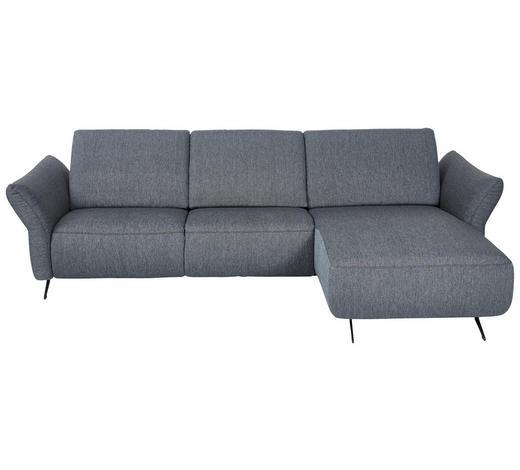 WOHNLANDSCHAFT in Textil Blau, Grau - Blau/Anthrazit, Design, Textil/Metall (291/172cm) - Dieter Knoll