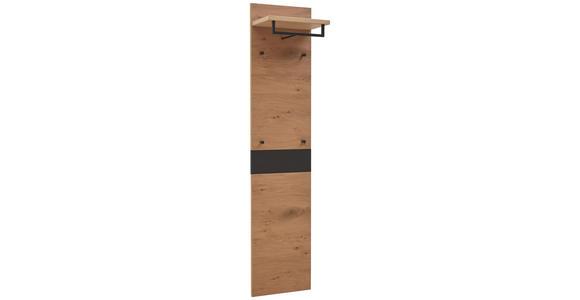 GARDEROBENPANEEL 42/183/27 cm  - Eichefarben/Schwarz, Design, Holz (42/183/27cm) - Dieter Knoll