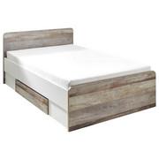 KREVET - bijela/prirodne boje, Konvencionalno, drvni materijal (140/200cm) - Carryhome