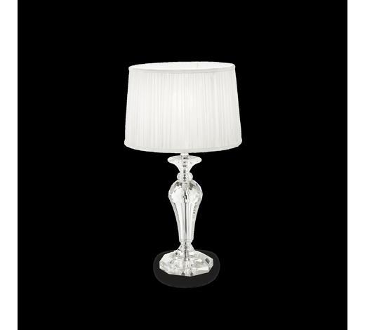 TISCHLEUCHTE - Weiß, Design, Glas/Textil (31/56cm)