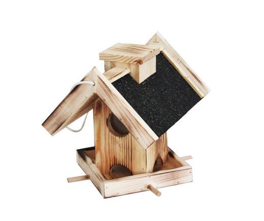 VOGELHAUS - Hellbraun/Anthrazit, Basics, Holz (26,5/23/24cm)