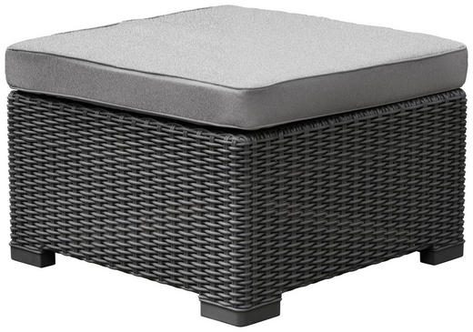 LOUNGEHOCKER - Graphitfarben/Grau, KONVENTIONELL, Kunststoff/Textil (68/35/68cm)
