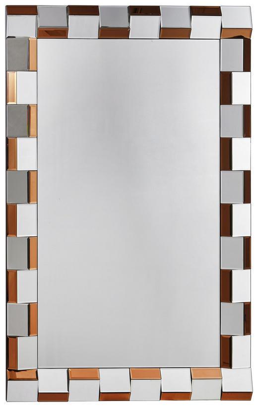 SPIEGEL - Silberfarben/Bronzefarben, Design, Glas (80/120/3,7cm) - Xora
