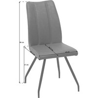 STOL - grå/svart, Design, metall/textil (45/96/62,5cm) - Carryhome