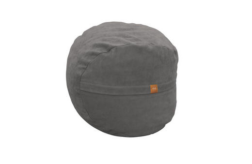 POUF Flachgewebe Grau - Grau, Design, Textil (60cm)