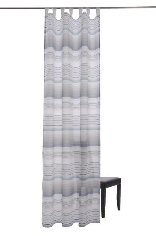 SCHLAUFENSCHAL  halbtransparent  140/255 cm - Türkis/Creme, Design, Textil (140/255cm)