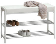 SCHUHREGAL 80/52/30 cm  - Chromfarben/Weiß, Design, Textil/Metall (80/52/30cm) - Carryhome