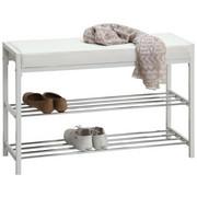 SKOHYLLA - vit/kromfärg, Design, metall/textil (80/52/30cm) - Carryhome