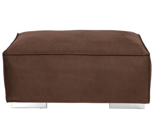 HOCKER in Textil Braun - Braun, KONVENTIONELL, Textil/Metall (105/45/77cm) - Carryhome