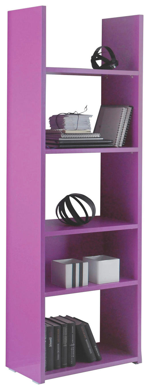REGAL Lila - Lila/Grau, Design, Holz/Kunststoff (56/184/29cm) - Carryhome