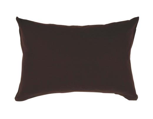 KOPFKISSENBEZUG Dunkelbraun 40/80 cm - Dunkelbraun, Basics, Textil (40/80cm) - Schlafgut