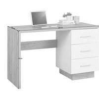 Schreibtisch - Eichefarben/Alufarben, Modern, Holzwerkstoff/Kunststoff (120/75/50cm) - Hom`in