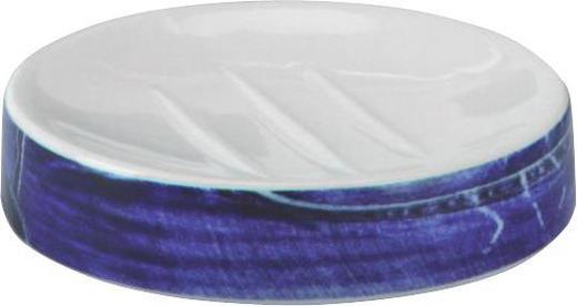SEIFENSCHALE - Blau/Weiß, Design (15.5/2.5cm)