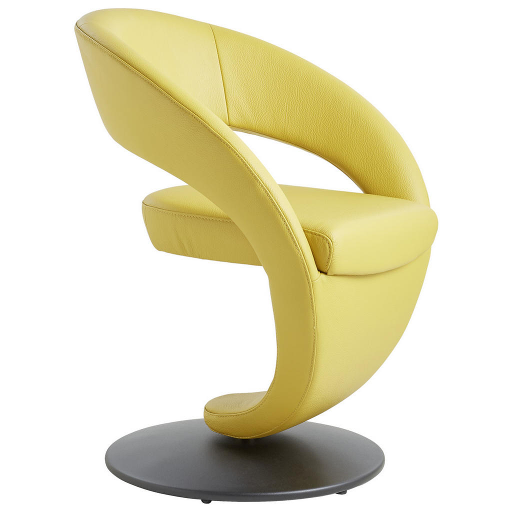 Moderano Stuhl echtleder gelb
