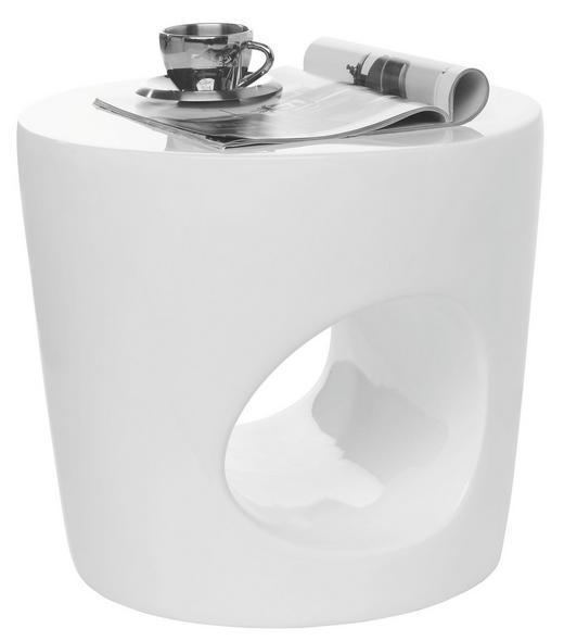 POMOĆNI STOLIĆ - bijela, Design, plastika (50/44/50cm) - Xora