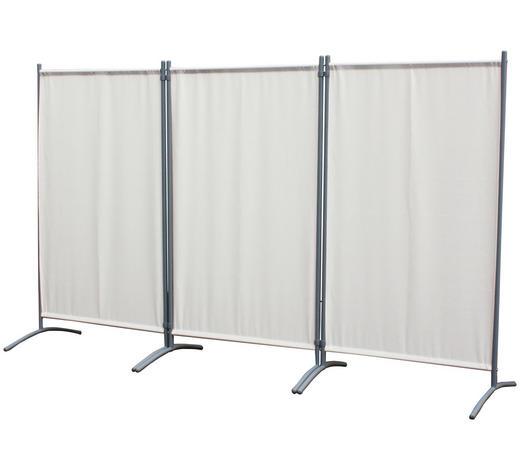 SICHTSCHUTZ, 258X155CM - Beige/Silberfarben, KONVENTIONELL, Textil/Metall (258/155cm)
