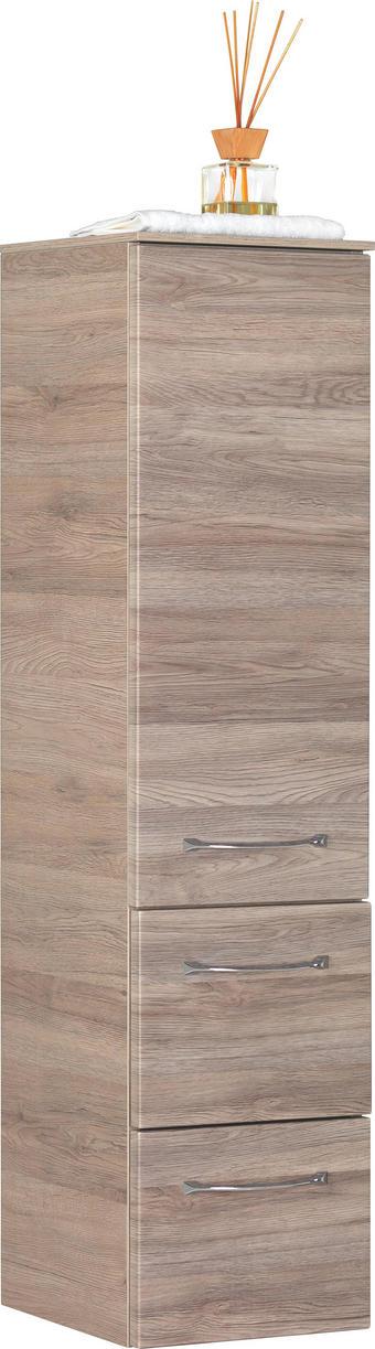 MIDISCHRANK - Chromfarben/Eichefarben, Design, Holzwerkstoff (30cm) - SADENA