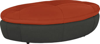 HOCKER in Textil Anthrazit, Rot - Anthrazit/Rot, Design, Kunststoff/Textil (155/47/78cm) - Hom`in