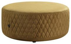 HOCKER in Holz, Textil Gelb  - Gelb/Schwarz, MODERN, Holz/Textil (80/80/36cm) - Carryhome