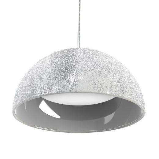 HÄNGELEUCHTE - Silberfarben/Weiß, Design, Kunststoff/Metall (53cm)