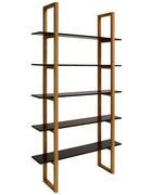 REGÁL, dub, masivní, černá, barvy dubu - černá/barvy dubu, Design, dřevo/kompozitní dřevo (110/200/28cm) - Carryhome