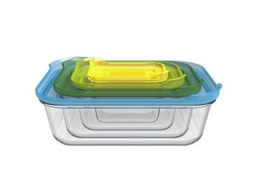 SET POSUDA ZA ZALIHE - višebojno/prozirno, Konvencionalno, staklo/plastika (28.2/10.5/21.5cm)