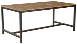 ESSTISCH in Holz, Metall 180/90/75 cm   - Dunkelgrau/Braun, Trend, Holz/Metall (180/90/75cm) - Landscape