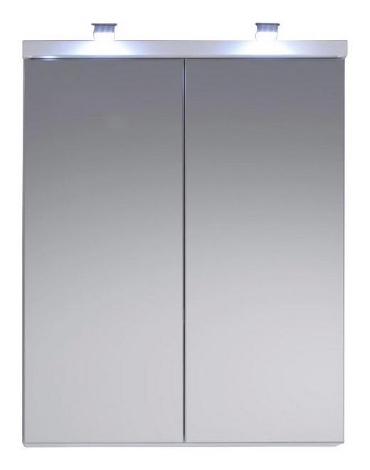 SPIEGELSCHRANK Weiß - Weiß, Design, Glas/Holzwerkstoff (65/80/21cm) - Xora