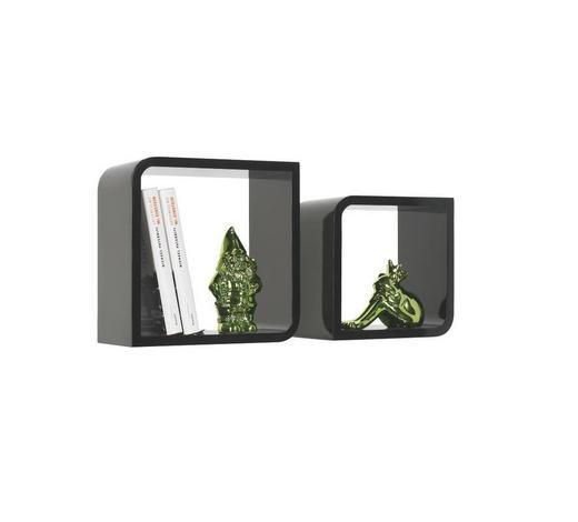 WANDREGALSET - Schwarz, Design, Holzwerkstoff (28/23/28/23/15cm) - Boxxx