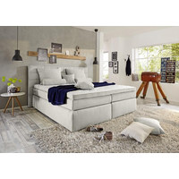 BOXSPRING KREVET - boje srebra/boje kroma, Design, tekstil/plastika (180 200 cm) - Novel