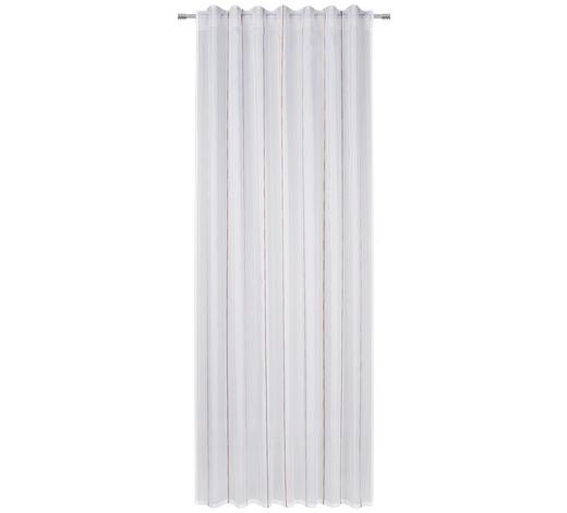 FERTIGSTORE halbtransparent - Grau/Kupferfarben, KONVENTIONELL, Textil (140/245cm) - Esposa