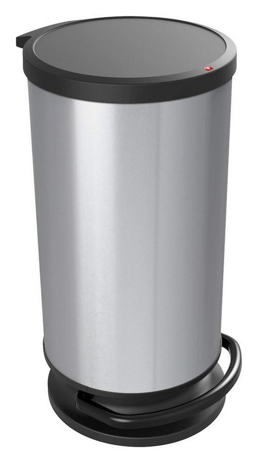 ABFALLEIMER Kunststoff - Silberfarben, Basics, Kunststoff (35,7/30,2/59,2cm) - Rotho