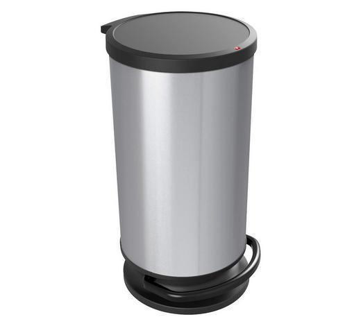 ABFALLEIMER 30 l - Silberfarben, Basics, Kunststoff (35,7/30,2/59,2cm) - Rotho