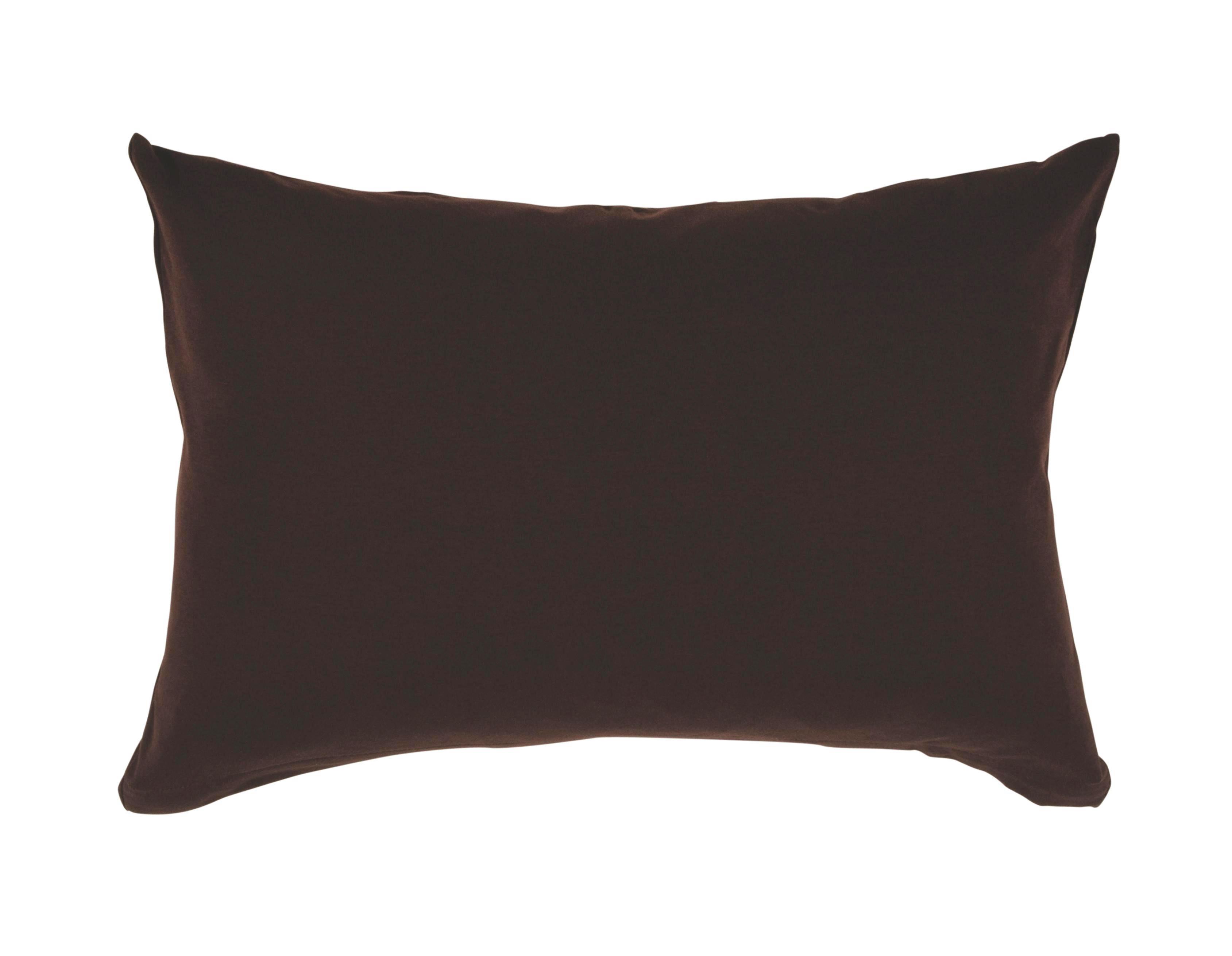 KISSENHÜLLE Dunkelbraun 40/80 cm - Dunkelbraun, Basics, Textil (40/80cm) - SCHLAFGUT