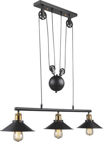 HÄNGELEUCHTE - Schwarz, LIFESTYLE, Metall (92/22/90-180cm) - LANDSCAPE