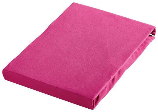 SPANNBETTTUCH Jersey Rosa bügelfrei - Rosa, Basics, Textil (100/200cm) - Novel