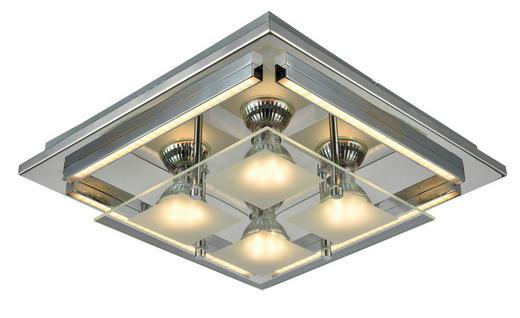 LED-DECKENLEUCHTE - Chromfarben, Design, Glas/Kunststoff (30/30/7cm) - Novel