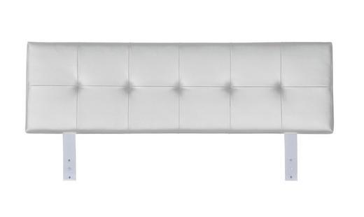 KOPFTEIL  146/51 cm Weiß - Weiß, Design, Textil (146/51cm) - Xora