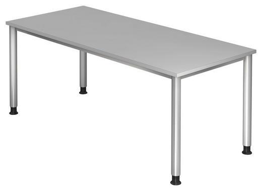 SCHREIBTISCH Grau, Silberfarben - Silberfarben/Grau, KONVENTIONELL, Metall (180/68-76/80cm)