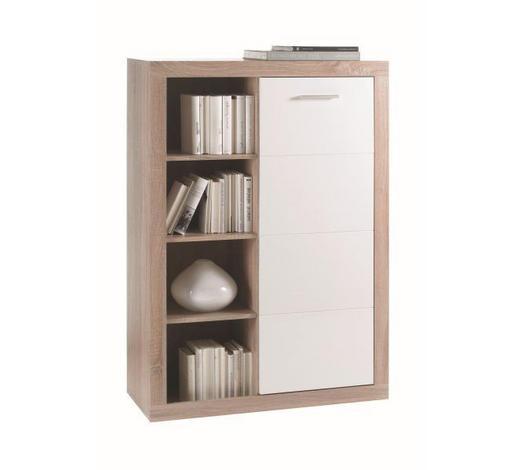 KOMODA   92/134/37 cm   bijela, boje hrasta  - bijela/boje hrasta, Design, drvni materijal/drvo (92/134/37cm) - Xora
