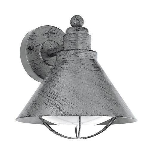 AUßENLEUCHTE Silberfarben, Zinkfarben - Silberfarben/Zinkfarben, Basics, Kunststoff/Metall (22/24/23cm)