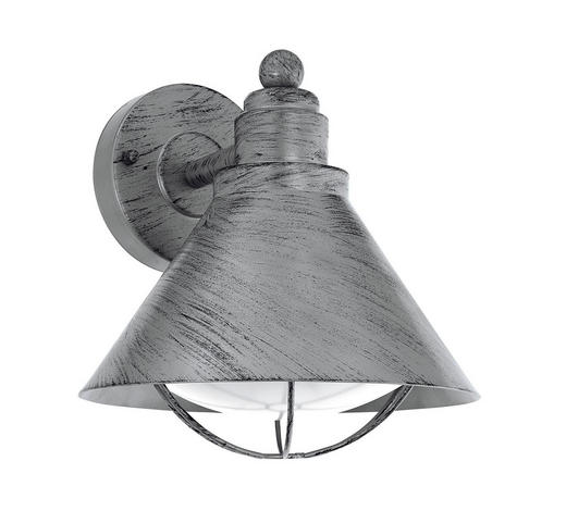 AUßENWANDLEUCHTE - Silberfarben/Zinkfarben, LIFESTYLE, Kunststoff/Metall (22/24/23cm)